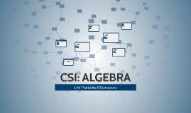 Copy of CSI: ALGEBRA