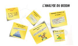 L'ANALYSE DU BESOIN