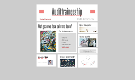 Audittraineeship dec 2015