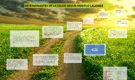 Copy of DETERMINANTES DE LA SALUD SEGUN MODELO LALONDE
