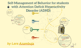 Self-Management of Behavior for students with Attention-Defi