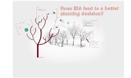 Does EIA lead to a better planning decision?