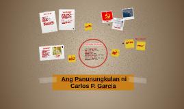Copy of  Ang Panunungkulan ni Carlos P. Garcia