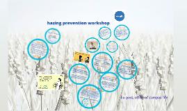 Hazing Prevention Workshop