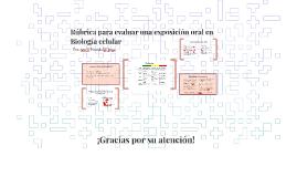 Rúbrica para evaluar una exposición oral en Biología celular