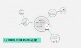 TEST BREVE DE INTELIGENCIA DE KAUFMAN