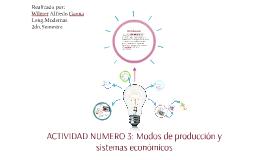 Actividad No. 3: Modos de producción y sistemas económicos.