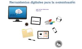 Herramientas digitales para la Comunicación