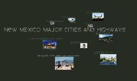 new mexico major highways and cities