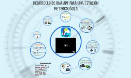 Desarrollo de App para una estación meteorológica.