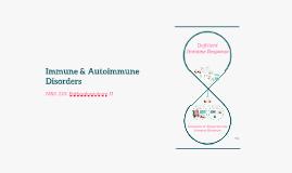 Immune & Autoimmune Disorders