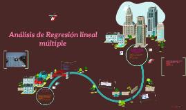 Ánalisis de Regresión lineal múltiple