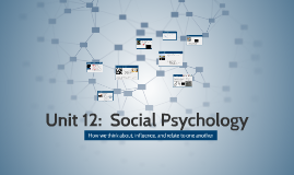 Unit 12:  Social Psychology