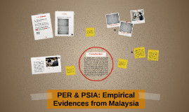 PER & PSIA: Empirical Evidences from Malaysia