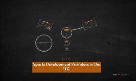 Sports Development Providers in the UK