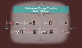 Patterns of Change Timeline