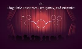 Linguistic Resources