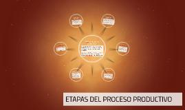 ETAPAS DEL PROCESO PRODUCTIVO