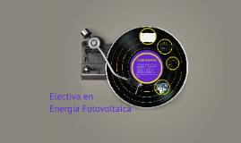 Electiva en Energía Fotovoltaica