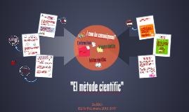 UD1 EL MÈTODE CIENTÍFIC