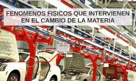 FENOMENOS FISICOS QUE INTERVIENEN EN EL CAMBIO DE LA MATERIA