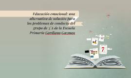 Educación emocional: una alternativa de solución para los pr