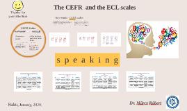 CEFR - ECL Oral Scales