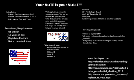 Copy of Your VOTE is your VOICE!!