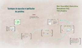 technique de séparation et purifcation des proteines