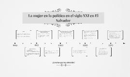 Copy of La mujer en la política en el siglo XXI en El Salvador