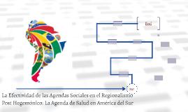 La Efectividad de las Agendas Sociales en el Regionalismo Po