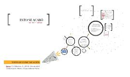 Copy of TIPOS DE COMUNICACIÓN