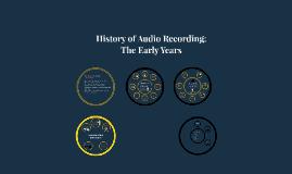 History of Audio Recording
