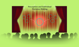 Perception and Individual Decision-Making
