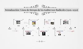 Introducción: Línea de tiempo de los Gobiernos Radicales