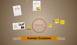 Korean Customs