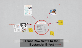Copy of Front Row Seats to the Bystander Effect