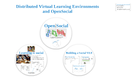 Open Social for Distributed Virtual Learning