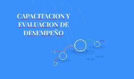 CAPACITACION Y EVALUACION DE DESEMPEÑO