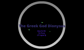 Greek Mythology: Dionysus