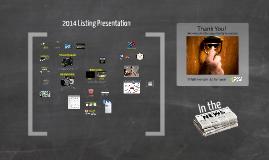 2014 - Commercial Listing Presentation