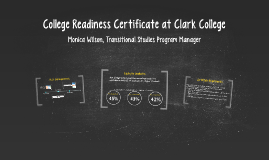 College Readiness Certificate at Clark College