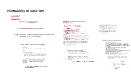 Normativity of case-law