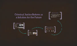 Criminal Justice Reform as a Solution for the Future