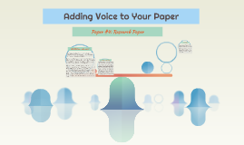 Adding Voice to Your Paper