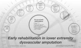 Early rehabilitation interventions
