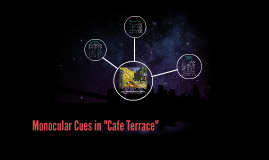 """Monocular Cues in """"Cafe Terrace"""""""