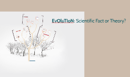 EvOluTIoN: Scientific Fact or Theory?