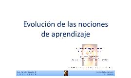 Evolución de las nociones de aprendizaje