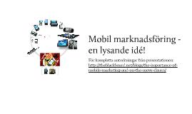 Mobil marknadsföring för restauranger - en lysande idé!